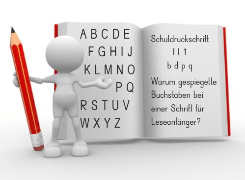 Schuldruckschriften Fonts Legasthenie Lesen Eltern Kinder Schule