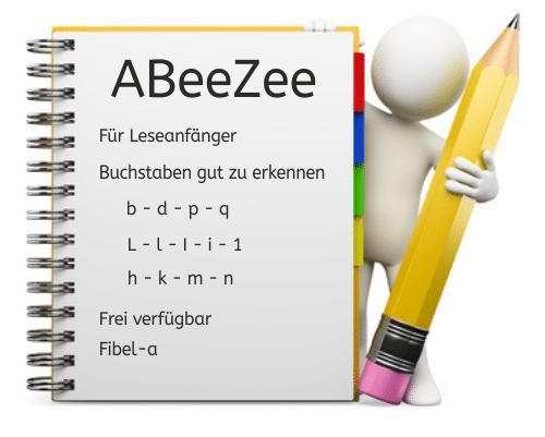 Schriftart, Font, Legasthenie, Lesen, Schreiben, Unterricht, Arbeitsblatt, Lehrer, Schule, Eltern, Kinder, Hilfe, Google Webfont, ABeeZee