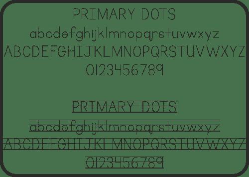 Primary Dots, Font, Schrifart, Legasthenie, Arbeitsblatt, Lehrer, Schule, Eltern, Kinder, Legasthenietrainer, Dyskalkulietrainer