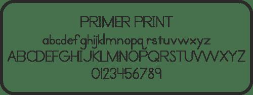 Primer Print, Font, Schrifart, Legasthenie, Arbeitsblatt, Lehrer, Schule, Eltern, Kinder, Legasthenietrainer, Dyskalkulietrainer