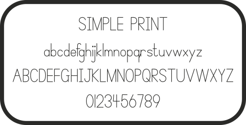 Simple Print, Font, Schrifart, Legasthenie, Arbeitsblatt, Lehrer, Schule, Eltern, Kinder, Legasthenietrainer, Dyskalkulietrainer