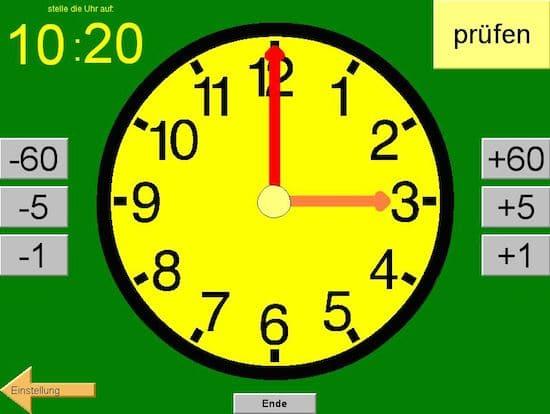 Uhr Lernen Online Kostenlos