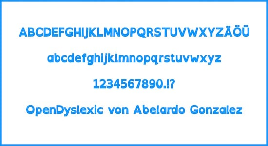 Dyslexie, OpenDyslexic, Schriftart, Legasthenie, AFS-Methode