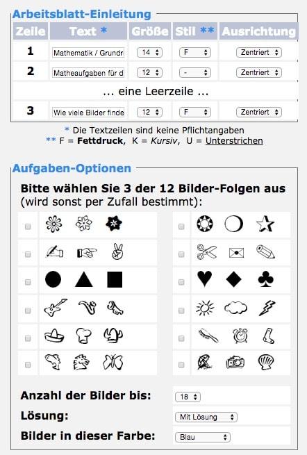 Unterschiede sehen und zählen (Arbeitsblattgenerator) - Erster ...