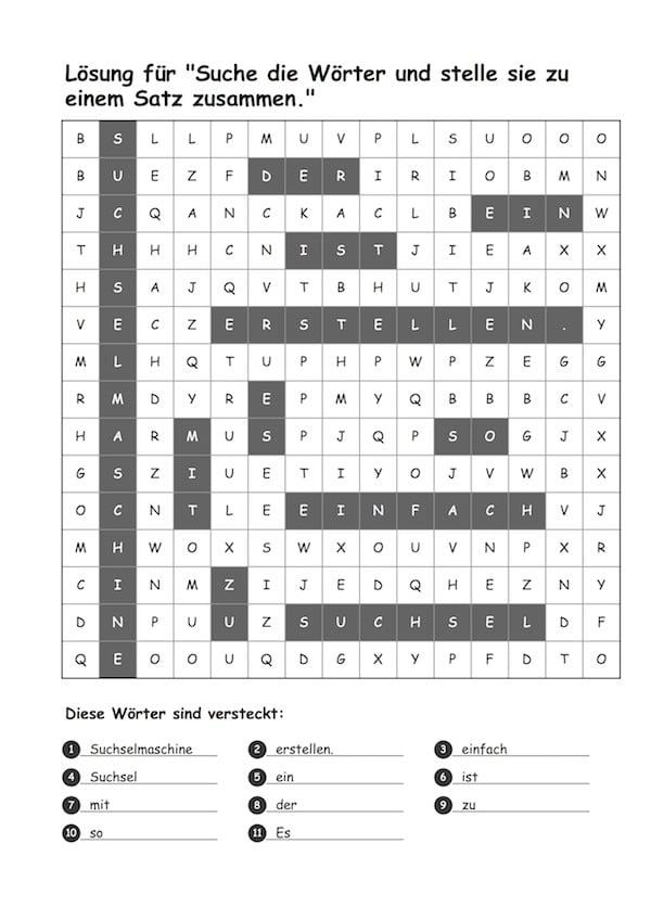 Suchsel Maschine - Rätsel erstellen leicht gemacht!, Suchsel, Rätsel, Buchstabensalat, Lesen, Legasthenie, Wahrnehmung, Legasthenietraining, AFS-Methode