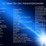 Advent, Adventskalender, Adventkalender, Ideen