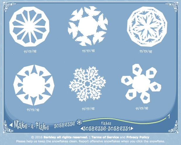 Feinmotorik, Linktipp, Schneeflocke, Schneeflockengenerator, Winter