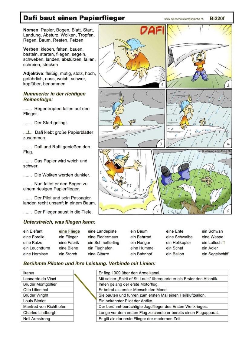 Lesetexte und Bildergeschichten, Legasthenietraining, Deutsch als Fremdsprache, DAF, Materialien, EÖDL, AFS-Methode, lesen, schreiben, Grammatik, Rechtschreibung