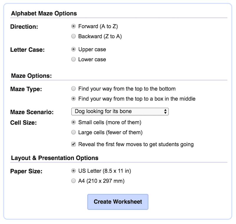 Alphabet Labyrinth, AFS-Methode, Legasthenie, Legasthenietraining, Legasthenietrainer, lesen, Arbeitsblatt, Generator