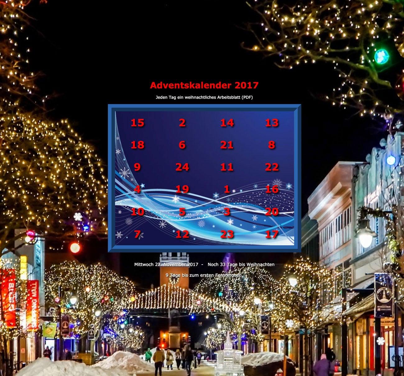 Adventkalender, Wahrnehmung, Aufmerksamkeit, AFS-Methode, Legasthenie, Legasthenietraining, EÖDL
