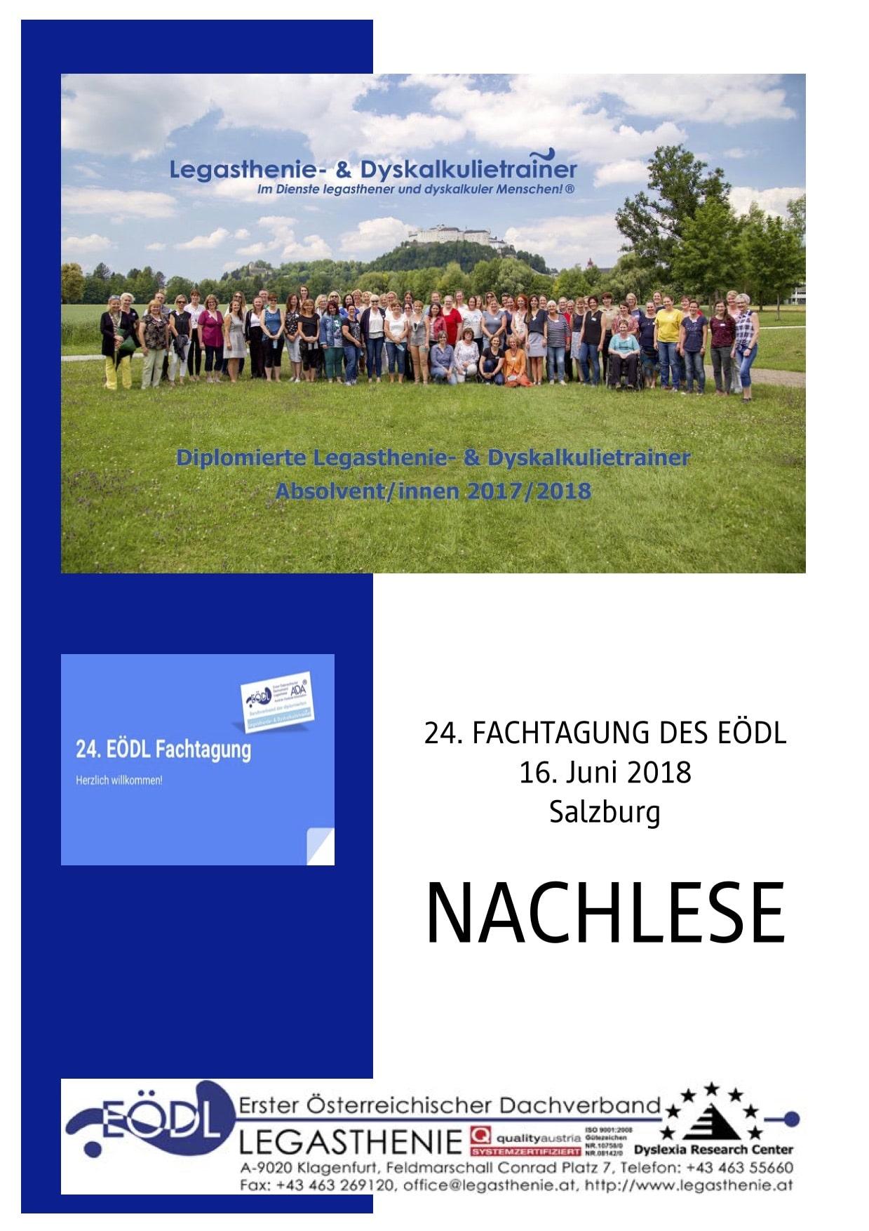 Fachtagung 2018, Legasthenie, Dyskalkulie, Legasthenietrainer, Dyskalkulietrainer, AFS-Methode, EÖDL, DRC, dyslexia, dyscalculia, Sinneswahrnehmungen
