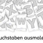 Buchstaben ausmalen, Legasthenie, Buchstaben, Legasthenietraining, AFS-Methode