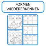 Formen, Legasthenie, Dyskalkulie, Arbeitsblatt, Schule, Wahrnehmung, Figur-Grunddifferenzierung