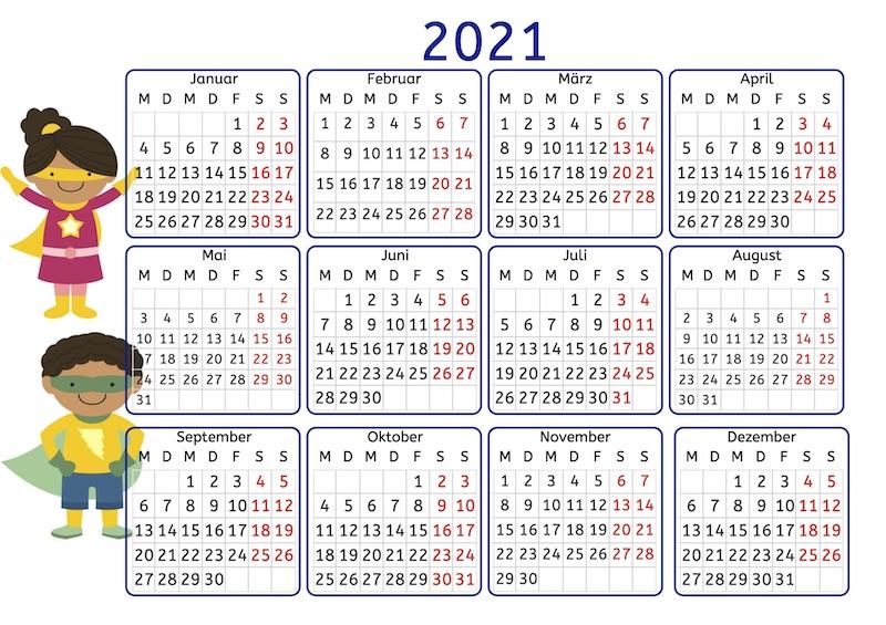 Jahreskalender, Legasthenie, Dyskalkulie, Legasthenietraining, Dyskalkulietraining, Lesen, Leseverständnis, Kalender, kostenlos, Eltern, Kinder, AFS-Methode, Stephany Koujou